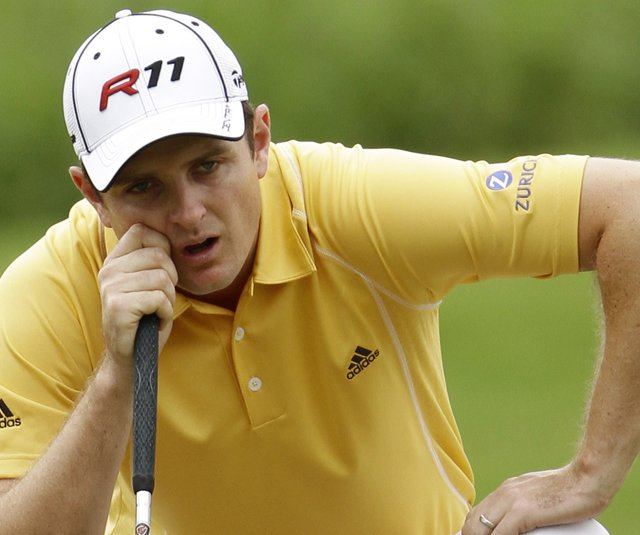 Justin Rose battled shoulder pain at the end of the 2010 season.