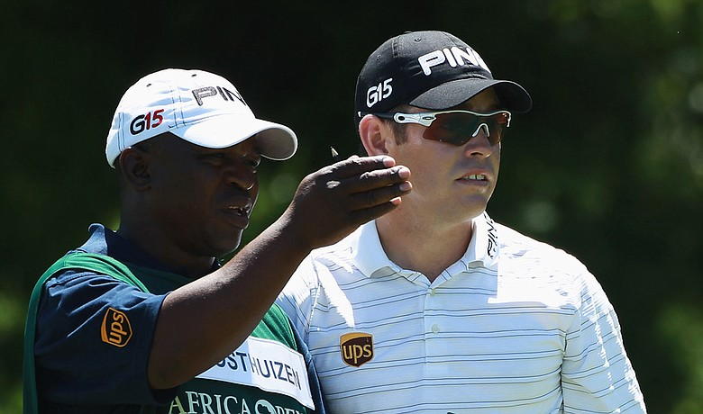 Louis Oosthuizen during the first round of the Africa Open.