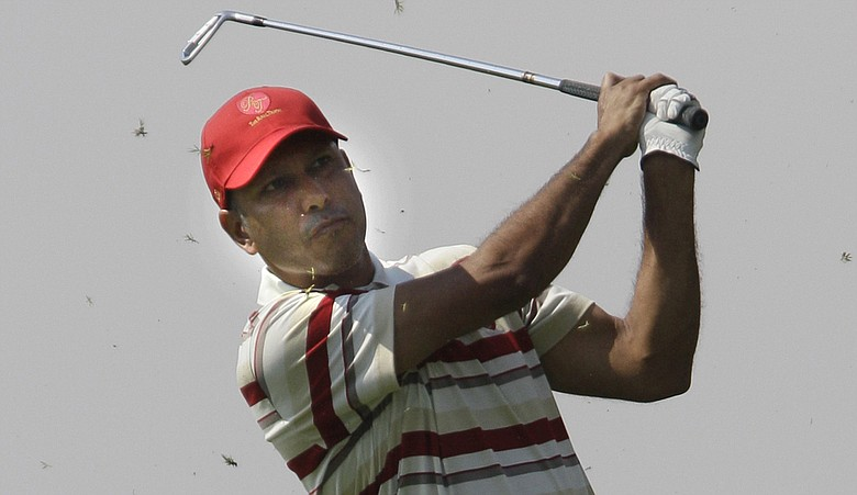 Jeev Milkha Singh during the Royal Trophy.