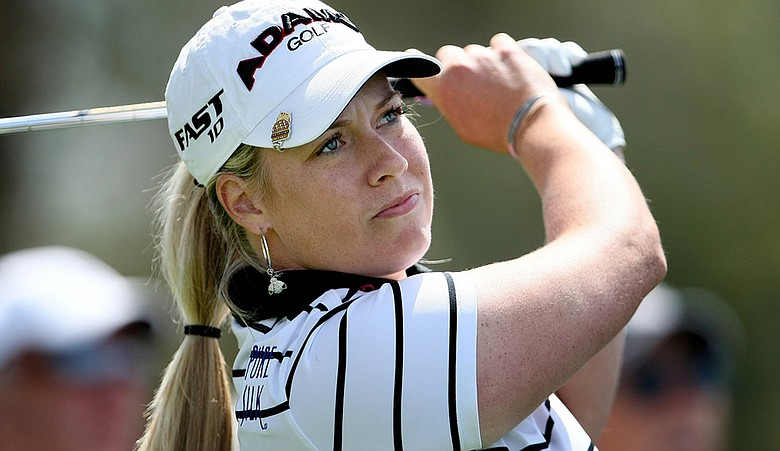 Brittany Lincicome during the 2010 Kraft Nabisco Championship.