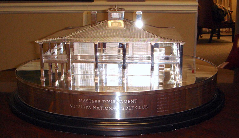 A replica of the Masters Trophy.