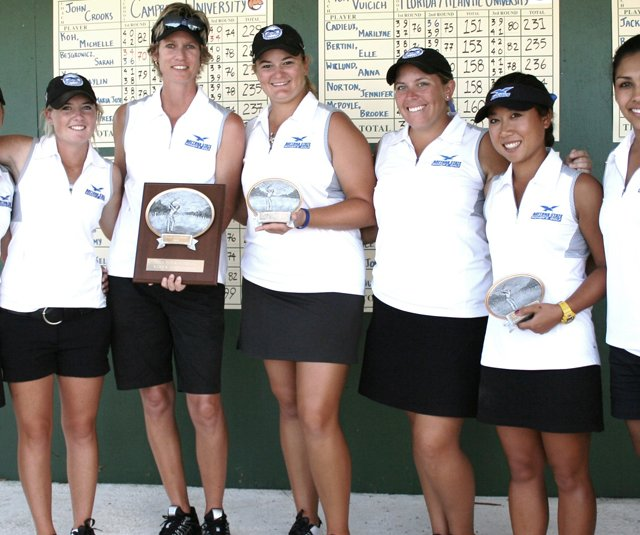 Members of the Daytona State College golf team after winning the Xavier Invitational.