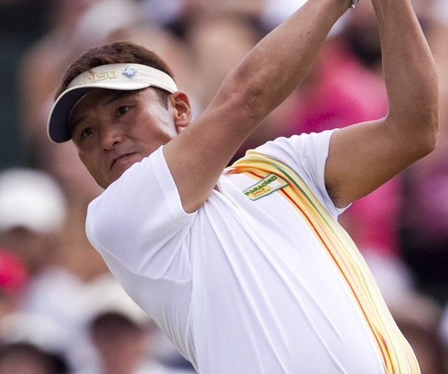 Shigeki Maruyama during the second round of the 2011 Sony Open.