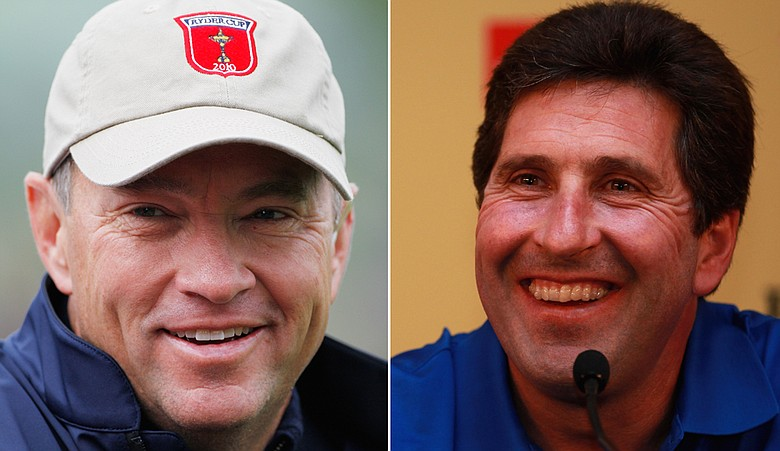 Davis Love III and Jose Maria Olazabal