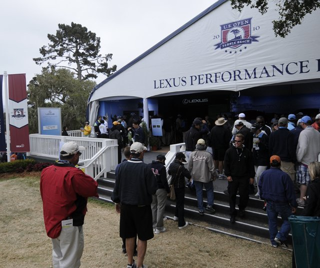 The Lexus Performance Drive tent at the 2010 U.S. Open at Pebble Beach.