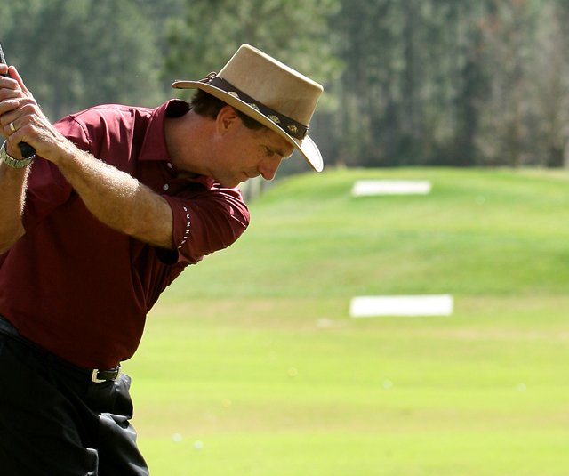 Mike Bender during a 2008 short game lesson at Timacuan Golf Club.