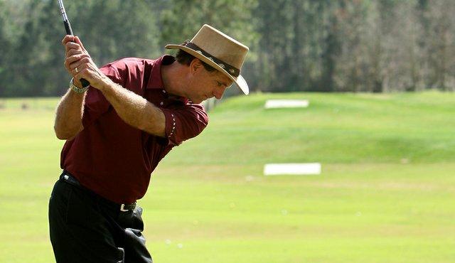 Mike Bender op de Wedge Range