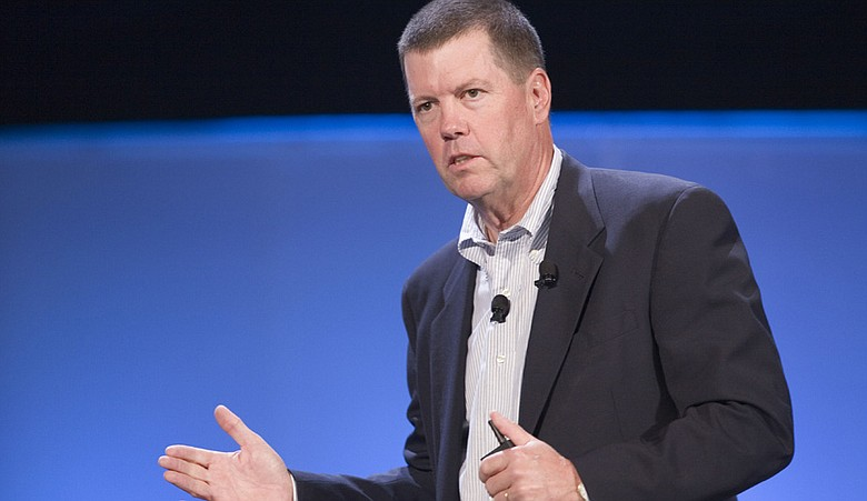 Scott McNealy, the Chairman and Co-Founder of Sun Microsystems, speaks at the World Business Forum on Thursday, Oct. 11, 2007 in New York.