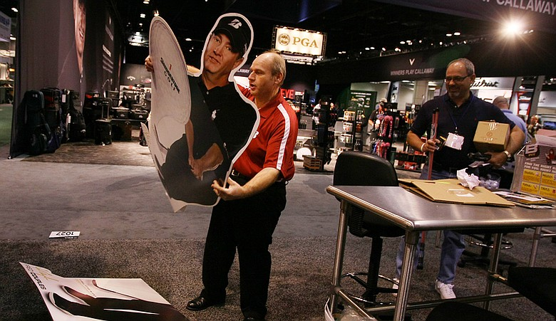Companies began breaking down their booths Saturday afternoon at the conclusion of the PGA Merchandise Show.