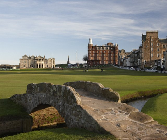 The Hamilton Grand is a 115-year-old building that looms over the 18th green of the Old Course in St. Andrews.