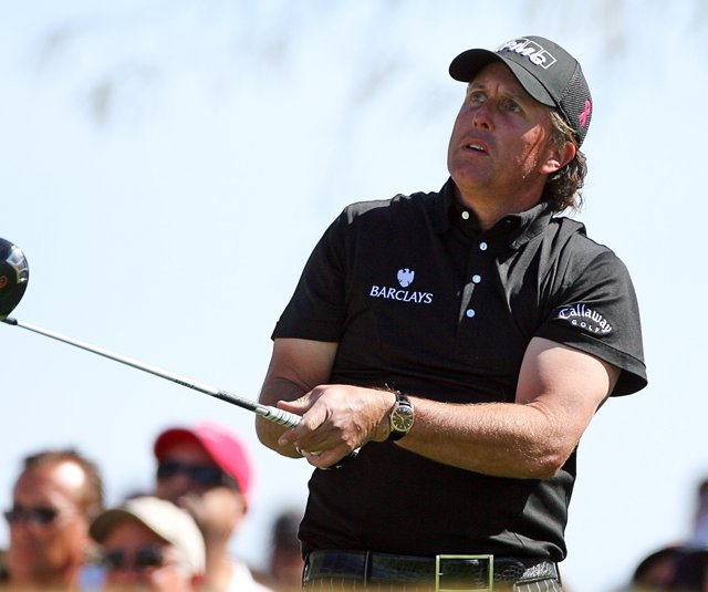 Phil Mickelson during the 2010 Waste Management Phoenix Open.