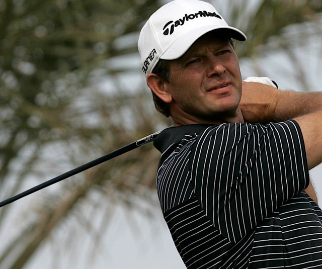 Retief Goosen during the Abu Dhabi Championship. 