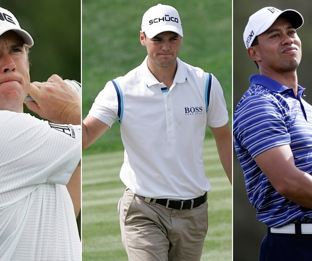 Lee Westwood, Martin Kaymer and Tiger Woods