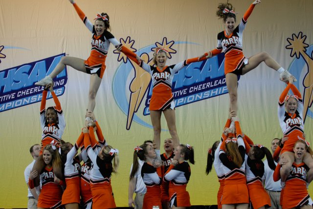 The Winter Park Wildcats perform during the FHSAA Competitive Cheerleading Championship Finals on Saturday. They took second place.