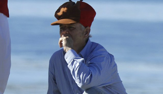 Bill Murray sported an Elmer Fudd hat during Round 3 of the Pebble Beach National Pro-Am.