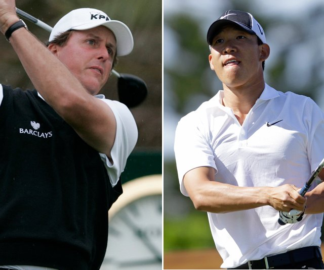 Phil Mickelson and Anthony Kim