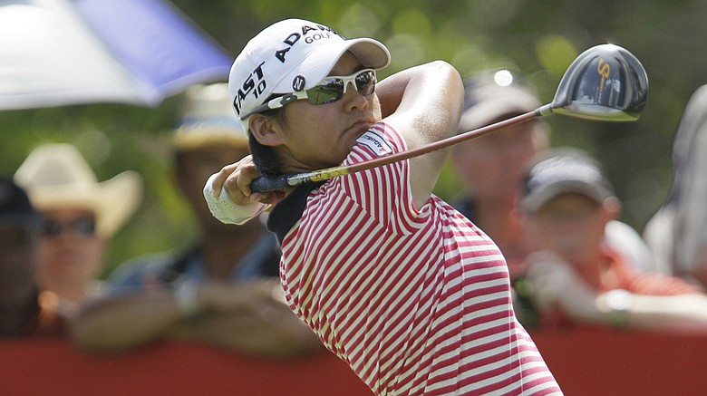 Tseng Yani of Taiwan tees off from the 9th hole during the final round of the LPGA Thailand golf tournament in Pattaya, southern Thailand, Sunday, Feb. 20, 2011.