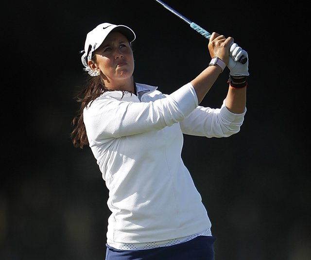 Kristie Smith during the final round of the New Zealand Women&#39;s Open in Christchurch, New Zealand. 