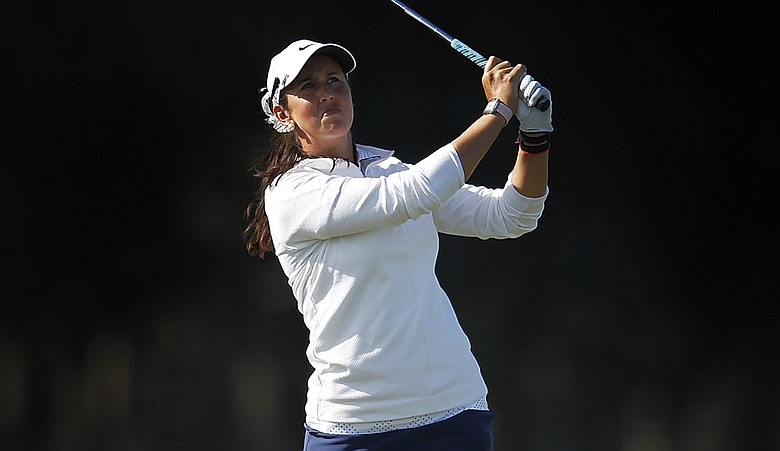 Kristie Smith during the final round of the New Zealand Women's Open in Christchurch, New Zealand.