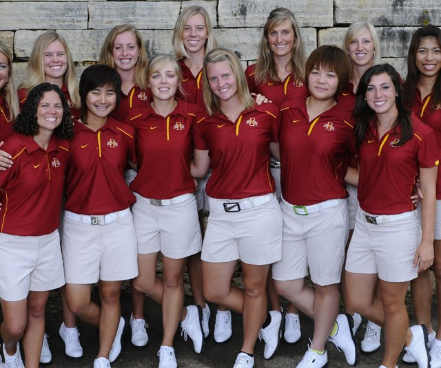 The Iowa State women's golf team