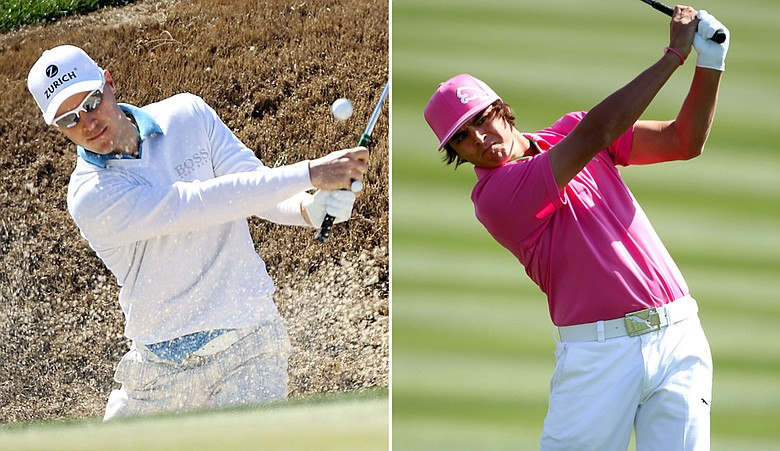 Ben Crane, left, and Rickie Fowler during the second round of the WGC-Accenture Match Play Championship.