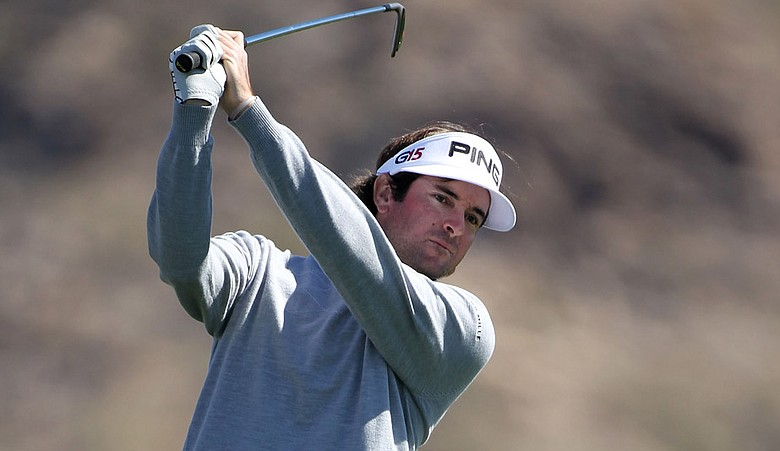 Bubba Watson hits a shot during the third round of the Accenture Match Play Championship.