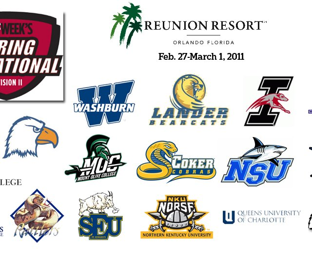 Seventeen teams from across the country will make their way to Reunion Resort in Central Florida this week for Golfweek's Div. II Spring Invitational.