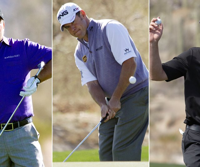Graeme McDowell, Lee Westwood and Luke Donald