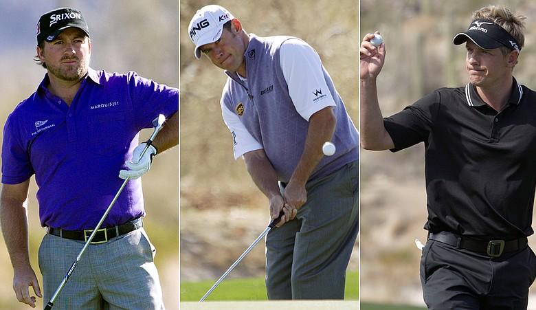 Graeme McDowell, Lee Westwood and Luke Donald