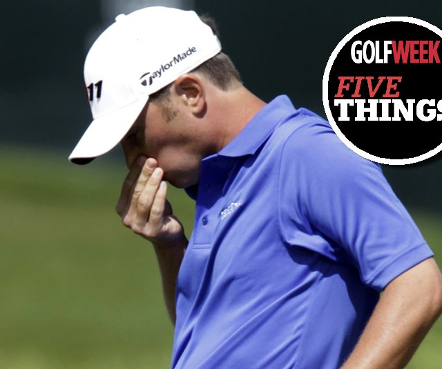 Spencer Levin after missing a putt Thursday at the Honda Classic.