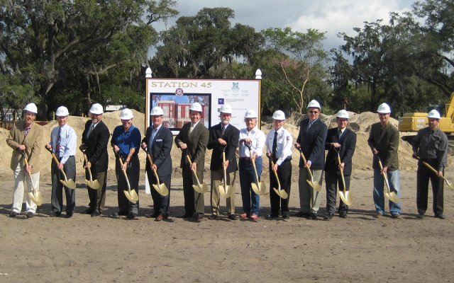 The city broke ground on its new fire station last week.