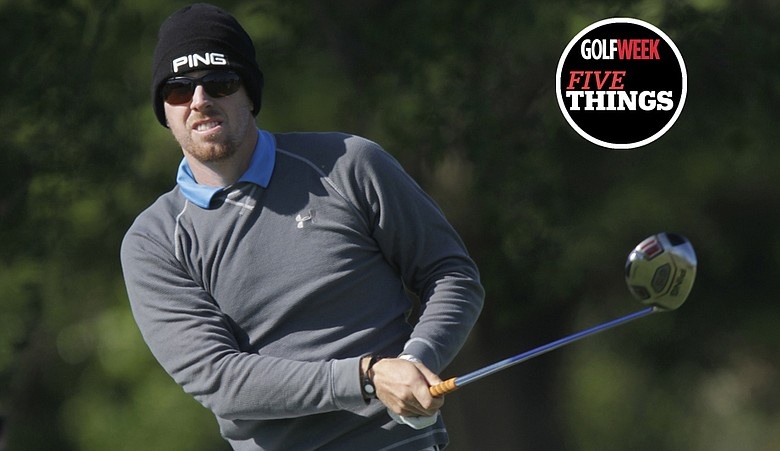 Hunter Mahan during the second round of the WGC-Cadillac Championship.