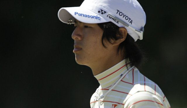 Ryo Ishikawa of Japan walks onto the first green during the second round of the WGC-Cadillac Championship.