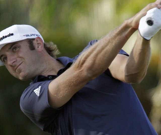 Dustin Johnson during Round 3 of the Cadillac Championship.