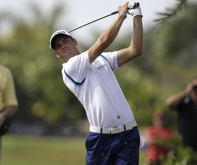 Crowds were thin at Doral for the third round of the Cadillac Championship, including among Martin Kaymer (pictured) and Hunter Mahan's group.