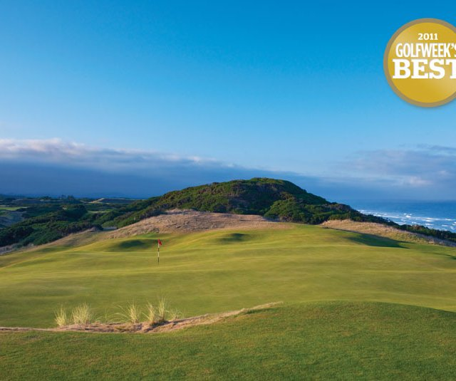 The seventh hole at Old Macdonald in Bandon, Ore., which makes its debut at No. 3 on the Modern Courses list.