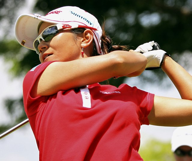 Ai Miyazato during the HSBC Women&#39;s Champions.