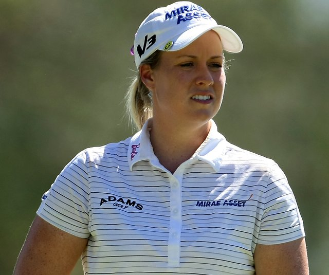 Brittany Lincicome at No. 11 during the second round of the Kraft Nabisco Championship.