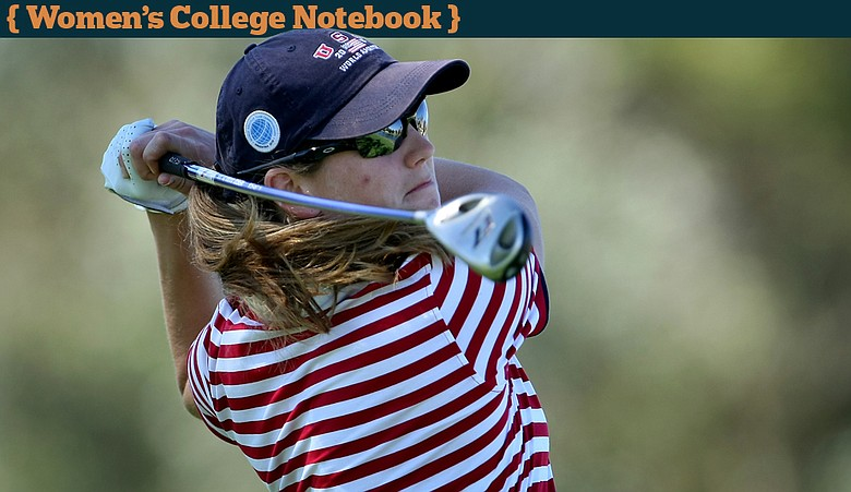 Cydney Clanton during the first round of the Kraft Nabisco Championship.