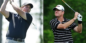 Lefty (63), Verplank tied for lead in Houston