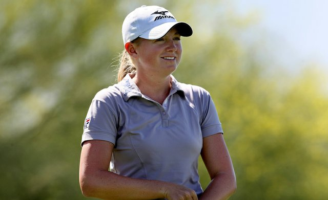 Stacy Lewis during the 2011 Kraft Nabisco Championship.