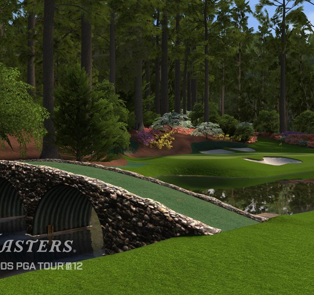 An image, courtesy of EA Sports, that shows No. 12 at Augusta National in the new Tiger Woods &#39;12: The Masters edition, slated for release on March 29, 2011.