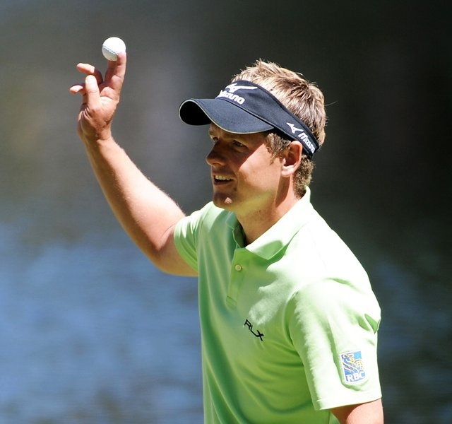 Luke Donald during the Par 3 contest prior to the 2011 Masters.