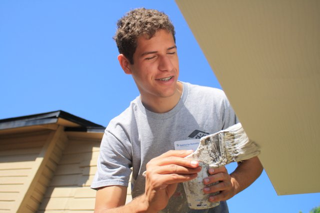 Daneil Schwindt volunteers for habitat on the weekends, and is headed to Wake Forest on a full ride.
