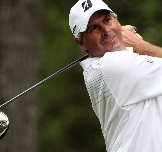 Fred Couples hits his tee shot on the second hole during the second round of the 2011 Masters Tournament at Augusta National Golf Club on April 8, 2011 in Augusta, Georgia. 