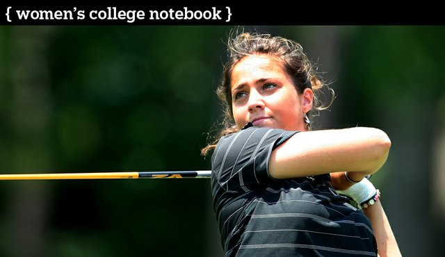 Marta Silva Zamora of Georgia during the final round of the Women's NCAA Championship at Country Club of Landfall.