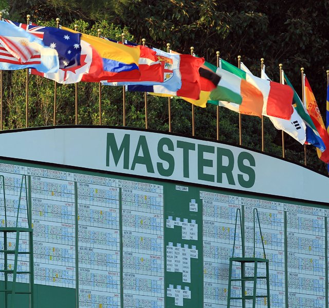 A leaderboard is seen during the third round of the 2011 Masters Tournament at Augusta National Golf Club on April 9, 2011 in Augusta, Georgia.