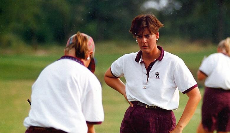 Jeanne Sutherland during her coaching career at Texas A&M.