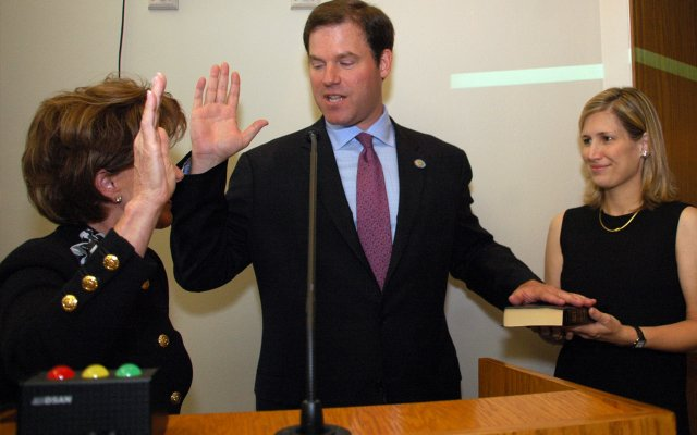 Winter Park Commissioner Steven Leary, who was named vice mayor Monday, was sworn in on March 14.