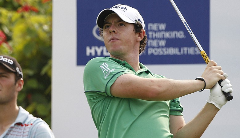 Rory McIlroy during Round 2 of the Malaysian Open.